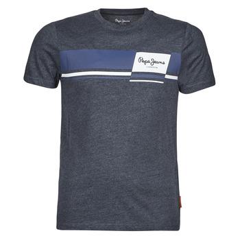 material Men short-sleeved t-shirts Pepe jeans KADE Blue