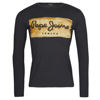 material Men Long sleeved shirts Pepe jeans CHARING LS Black