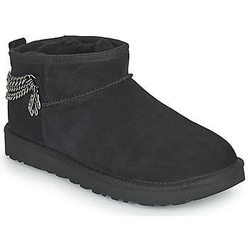 Shoes Women Mid boots UGG Classic Ultra Mini Chains Black