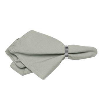 Home Napkin Broste Copenhagen WILLE Grey / Clear