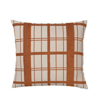 Home Cushions covers Broste Copenhagen CHEQUER Caramel