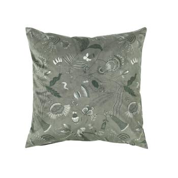 Home Cushions covers Broste Copenhagen BELL FLOWER Green
