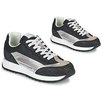 Shoes Women Low top trainers Emporio Armani HOULIN Black / Silver