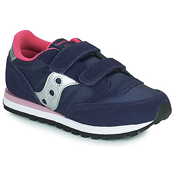 Shoes Girl Low top trainers Saucony JAZZ DOUBLE HL Marine / Pink