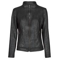 material Women Leather jackets / Imitation le Desigual COMARUGA Black