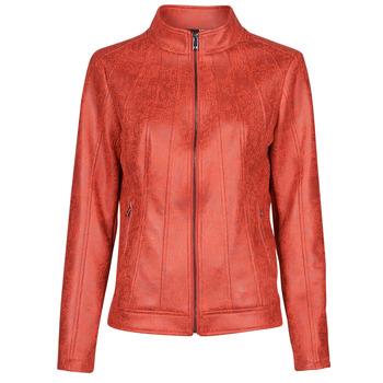 material Women Leather jackets / Imitation le Desigual COMARUGA Red
