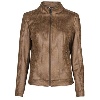 material Women Leather jackets / Imitation le Desigual COMARUGA Brown