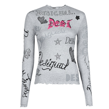 material Women Long sleeved shirts Desigual LETTERING Grey