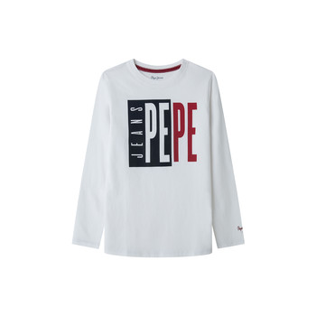 material Boy Long sleeved shirts Pepe jeans AARON White