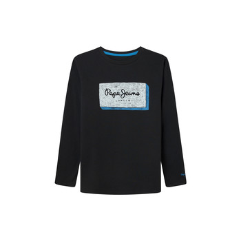 material Boy Long sleeved shirts Pepe jeans ASIER Black