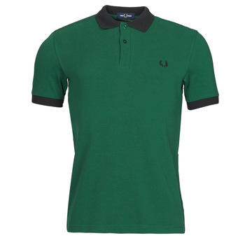 material Men short-sleeved polo shirts Fred Perry CONTRAST TRIM POLO SHIRT Green
