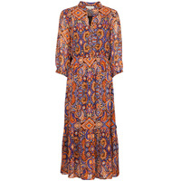 material Women Long Dresses Derhy TAC-TAC ROBE Red / Multicolour