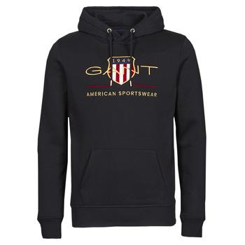 material Men sweaters Gant ARCHIVE SHIELD HOODIE Black