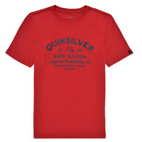 material Boy short-sleeved t-shirts Quiksilver CLOSED CAPTIONS SS Red