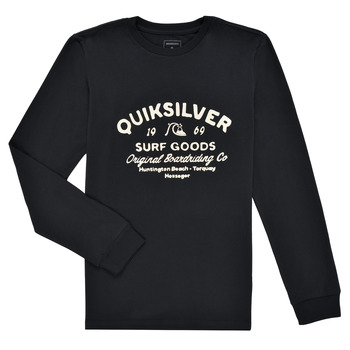 material Boy Long sleeved shirts Quiksilver CLOSED CAPTION LS Black