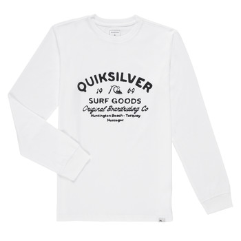 material Boy Long sleeved shirts Quiksilver CLOSED CAPTION LS White