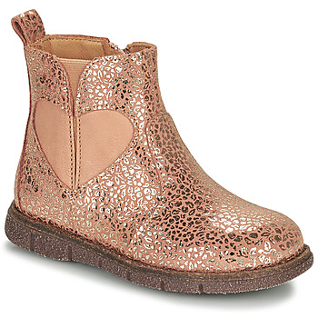Shoes Girl Mid boots Bisgaard MELODY Pink / Gold