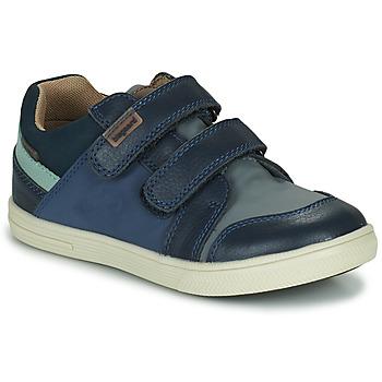 Shoes Boy Low top trainers Bisgaard LEVI TEX Marine