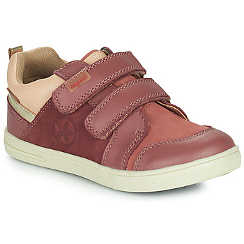 Shoes Girl Low top trainers Bisgaard LEVI TEX Pink