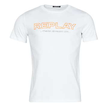 material Men short-sleeved t-shirts Replay M3427 White