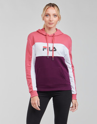 material Women sweaters Fila AQILA HOODY Pink / White / Violet