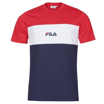 material Men short-sleeved t-shirts Fila ANOKI Red / Marine / White