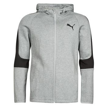 material Men sweaters Puma EVOSTRIPE CORE FZ HOODIE Grey / Black