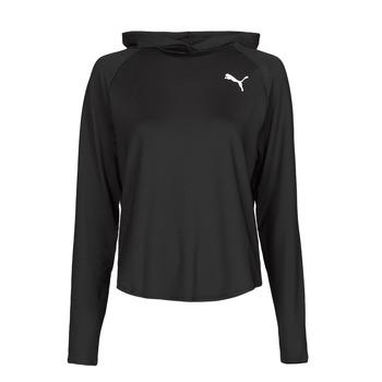 material Women sweaters Puma ACTIVE HOODIE Black