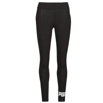material Women leggings Puma ESS LOGO LEGGINGS Black