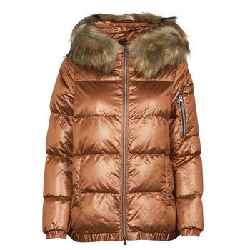 material Women Duffel coats Geox BAKSIE Brown / Frozen