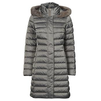material Women Duffel coats Geox W BETTANIE LONG JKT Silver