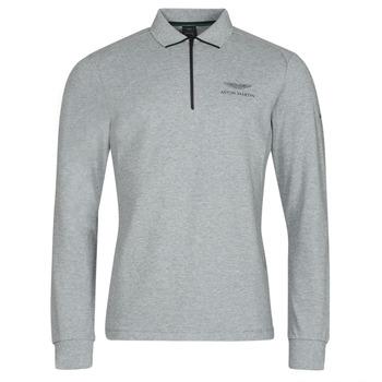 material Men long-sleeved polo shirts Hackett HM550878 Grey