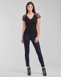 material Women 5-pocket trousers Morgan PETRA Marine