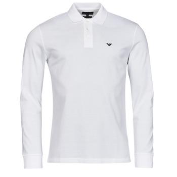 material Men long-sleeved polo shirts Emporio Armani 8N1FQ0 White