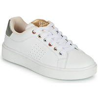Shoes Girl Low top trainers Kappa SAN REMO White / Gold / Silver