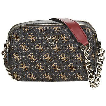 Bags Women Shoulder bags Guess NOELLE CROSSBODY CAMERA Brown