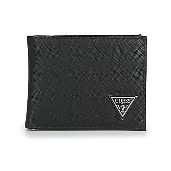 Bags Men Wallets Guess CERTOSA SAFFIANO BILLFORD WITH COIN POCKET Black