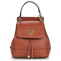 Bags Women Rucksacks Guess CORDELIA FLAP BACKPACK Cognac