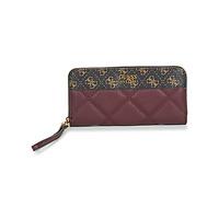 Bags Women Wallets Guess KATEY SLG LARGE ZIP AROUND Burgundy