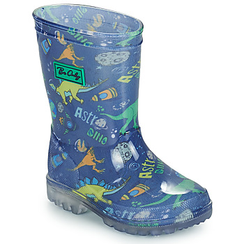 Shoes Boy Wellington boots Be Only DINO FLASH Blue / Green