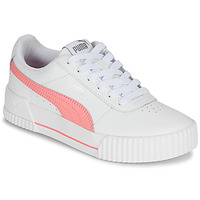 Shoes Girl Low top trainers Puma CARINA LIFT JR White / Pink