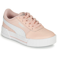 Shoes Girl Low top trainers Puma CARINA LIFT PS Pink / White