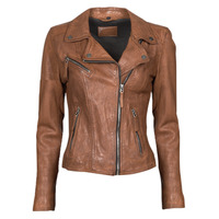material Women Leather jackets / Imitation le Oakwood CLIPS 6 Brown