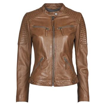 material Women Leather jackets / Imitation le Oakwood HILLS6 Cognac