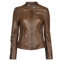 material Women Leather jackets / Imitation le Oakwood KARINE Brown