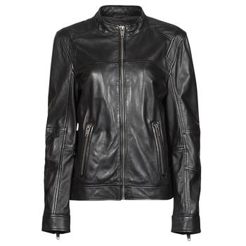 material Women Leather jackets / Imitation le Oakwood DUBLIN Black