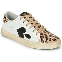 Shoes Women Low top trainers Le Temps des Cerises AUSTIN White / Leopard
