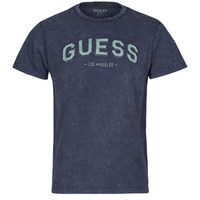 material Men short-sleeved t-shirts Guess GUESS COLLEGE CN SS TEE Marine