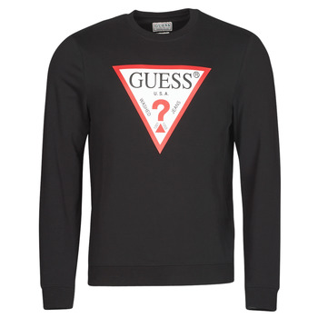 material Men sweaters Guess AUDLEY CN FLEECE Black