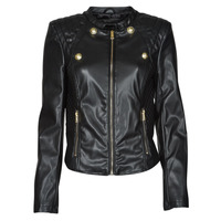 material Women Leather jackets / Imitation le Guess WILLA JACKET Black